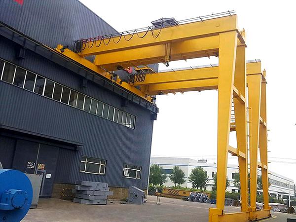 Double Girder Semi Gantry Crane For Factory