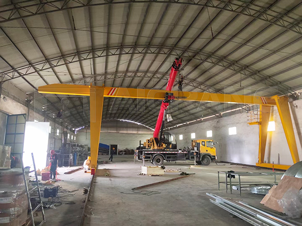 Single Girder Factory Gantry Crane For Sale