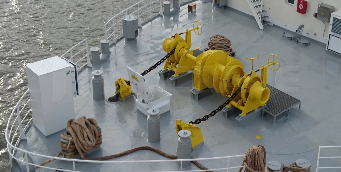 Double Gypsy Electric Anchor And Mooring Winch For Sale