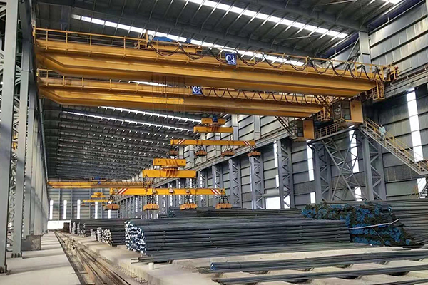 Electromagnetic Crane With Carrier-beam in Steel Plant