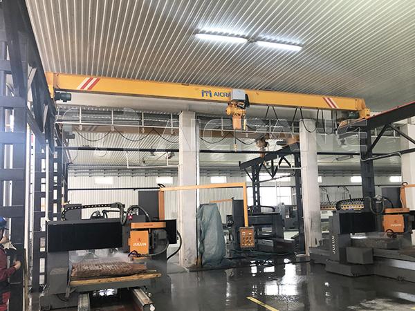 AQ-LD 5T Chain Hoist Overhead Crane in Processing Workshop