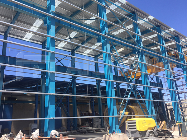 50 Ton Overhead Crane And Steel Structure Shed