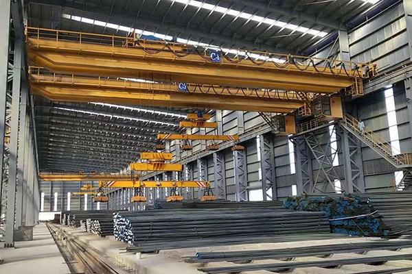 10T+10T Electromagnetic Bridge Crane For Sale