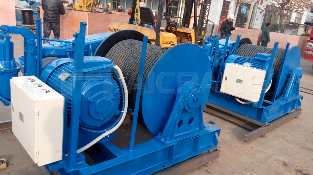 AQ-JM 8T And 10T Electric Winches to UAE