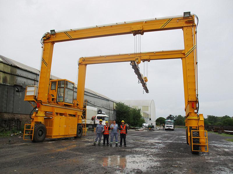 12.5T+12.5T Rubber Tired Crane Manufacturer