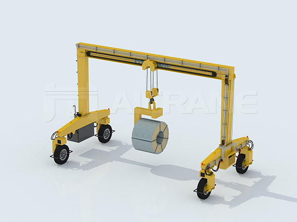 Single-beam Rubber Tyred Gantry Crane Design
